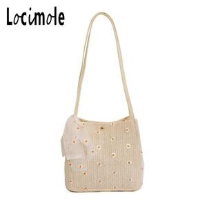 Locimole Women Satchels Fashion Bottega Veneta Ladies Woven Bags Casual Tote Bag Lace Shoulder Bag Handbags BIZ174 PM49(China)