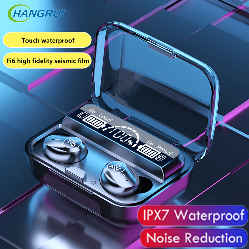 F9 TWS Wireless Bluetooth Earphone 5 0 Earphones Sport Waterproof LED Airbuds PK i9000 Pro Headset headphones For iPhone Samsung