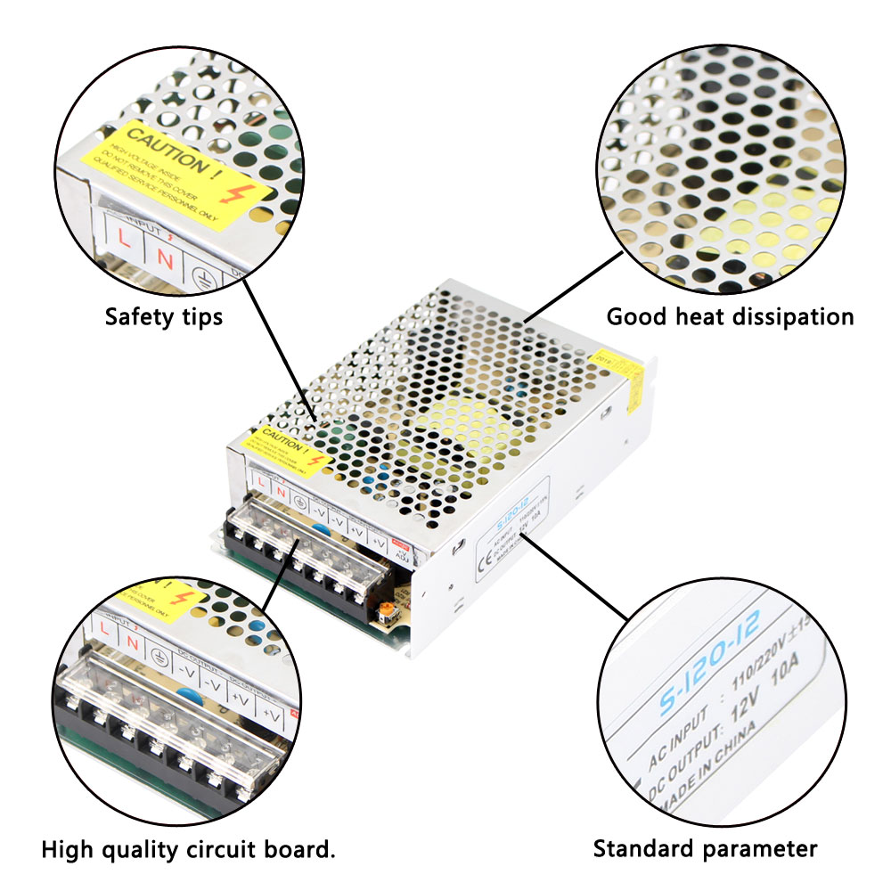AC-DC 15 V Schalt Netzteil 220V BIS 15 V 3A 5A 10A 20A 30A AC DC SMPS 15 V Netzteil Fonte 150W 300W 450W 500W MeanWell