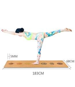 Image 5 - Jusenda 183X68cm Sughero Naturale di Yoga del TPE di Zerbino Per Il Fitness 5 millimetri di Sport Zerbino s Pilates Esercizio antiscivolo Yoga zerbino Con La Posizione Del Corpo Linea