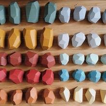 Новый скандинавский стиль ins цветная бревна цвет из камней