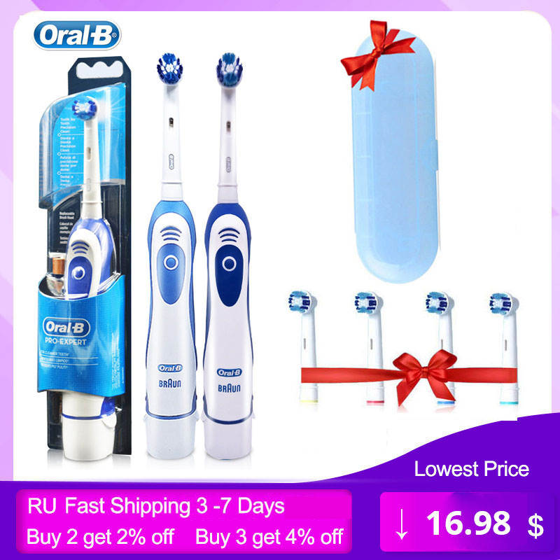 Sonic Toothbrush Rotary-Battery Oral-B Electric Precision-Clean Dental DB4010/4510 Adult