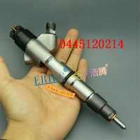 ERIKC 0 445 120 214 Auto Fuel Injector Assembly 0986AD1007 Common Rail Injection for Bosch Prfession Weichai WD10 Car Accessory