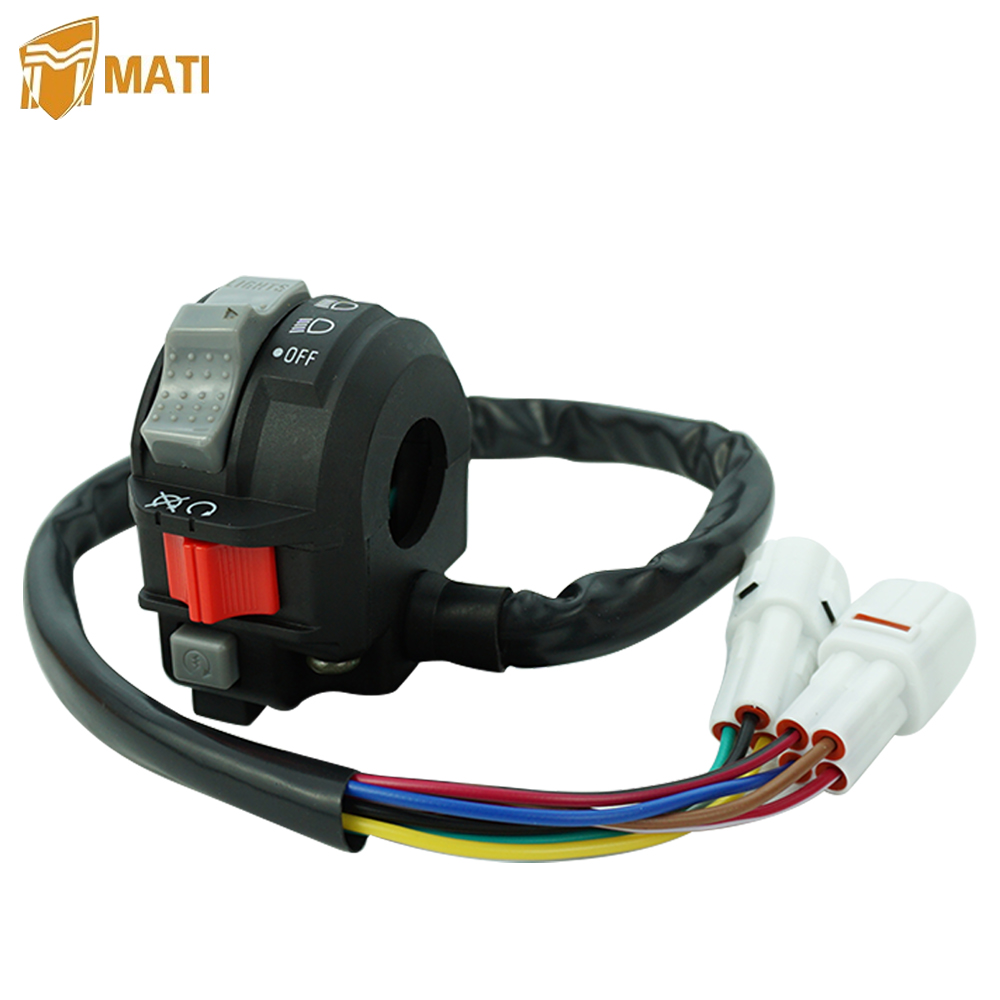 Left Handlebar Switch Control Engine Start Run Off Headlight for <font><b>Yamaha</b></font> <font><b>YFZ450</b></font> YFZ 450 Warrior 350 Grizzly Raptor 125 250 250X image