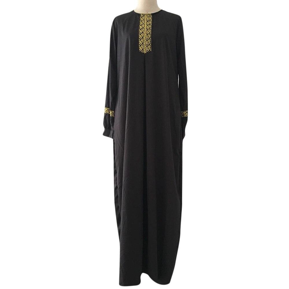 KANCOOLD Women Plus Size Print Abaya Jilbab Muslim Maxi Dress Casual Kaftan Long Dress muslim clothes women
