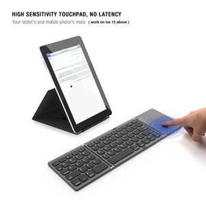 Image 4 - AVATTO B033 מיני מתקפל מקלדת Bluetooth 5.0 מתקפל מקלדת אלחוטית עם משטח מגע עבור Windows, אנדרואיד, ios Tablet ipad טלפון