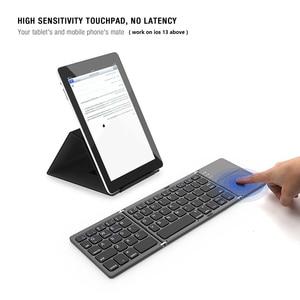 Image 4 - Avatto B033 Mini Opvouwbare Toetsenbord Bluetooth 5.0 Opvouwbare Draadloze Toetsenbord Met Touchpad Voor Windows,Android,ios Tablet Ipad Telefoon
