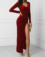 New Women Dresses Autumn Winter Velvet Dress Sexy Long Sleeve Fashion Evening Party S-2XL 2019 THXDOLL