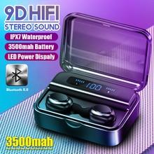HIFI 9D Bluetooth 5,0 наушники беспроводные наушники fone PK S11 F9 TWS наушники гарнитуры с внешним аккумулятором для смартфонов