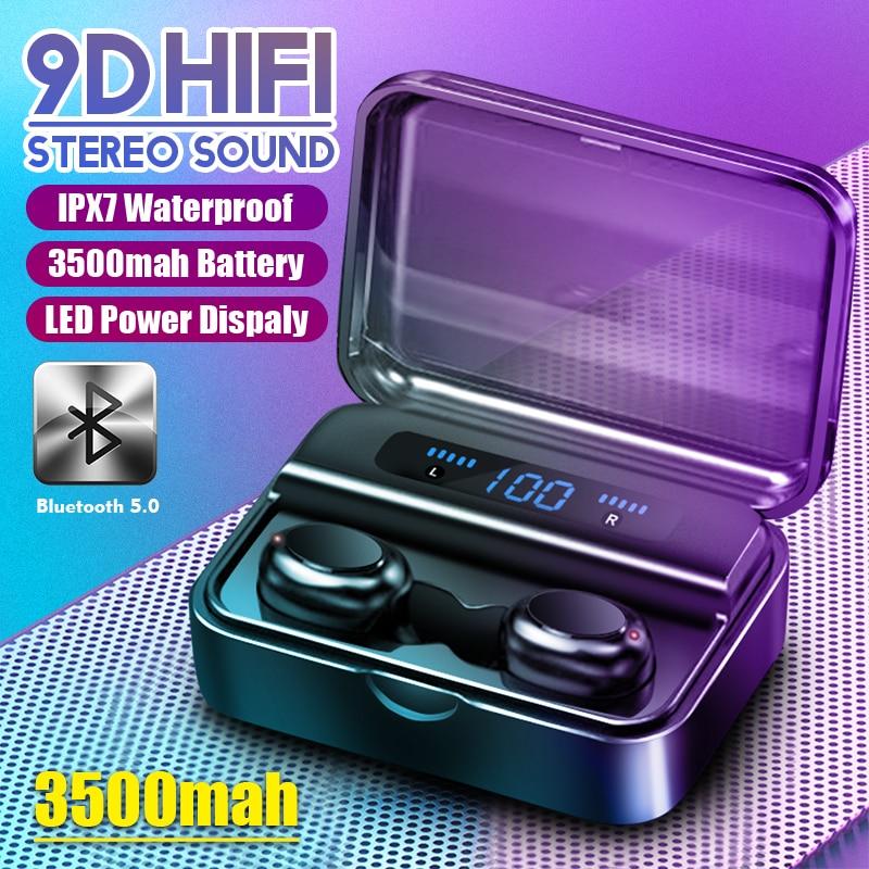 HIFI 9D Bluetooth 5.0 écouteurs casque sans fil écouteurs fone PK S11 F9 TWS écouteurs casques avec batterie externe pour Smartphone