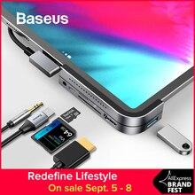 Baseus USB C HUB to 3.0 HDMI for iPad Pro Type MacBook Docking Station Multi 6 Ports Type-C