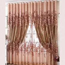 Europeu-estilo moderno de luxo cortinas tule para sala de estar decoração moderna chiffon sólida pura voile cozinha cortina