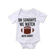 Summer Casual Newborn Baby Boy Girl Short Sleeve Baseball Print Cotton Romper Jumpsuit Playsuit Outfits Summer Clothes 0-18M(China)
