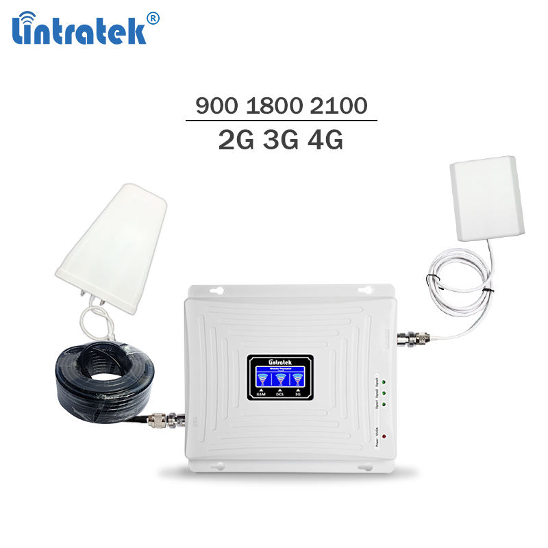 2019 New Triband Celular Signal Booster 900 1800 2100Mhz Gsm Mobile Signal Repeater 3g 4g Lte Cellphone Amplifier 65dBi #5.9