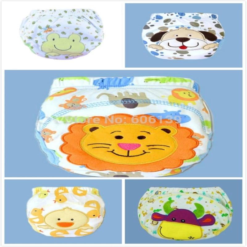 Baby Underwear Infant Girls Boys Training Pants Panties Cartoon Potty Leak-proof Diapers Newborn Reusable Nappies 5pcs/lot