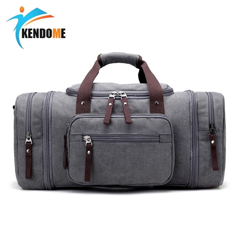 Top Quality Men's Classic Canvas Fitness Gym Sports Shoulder Leisure Travel Bag Yoga Handbag Training Portable Duffle Bag
