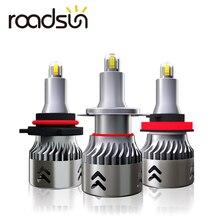Светодиодные противотуманные фары Roadsun, 8 сторон, 9005 лм, H8, H11, H7, H1, H3, HB4, 6000, CSP, автомобильные фары, k, светодиодные фары для автомобиля, 12 В