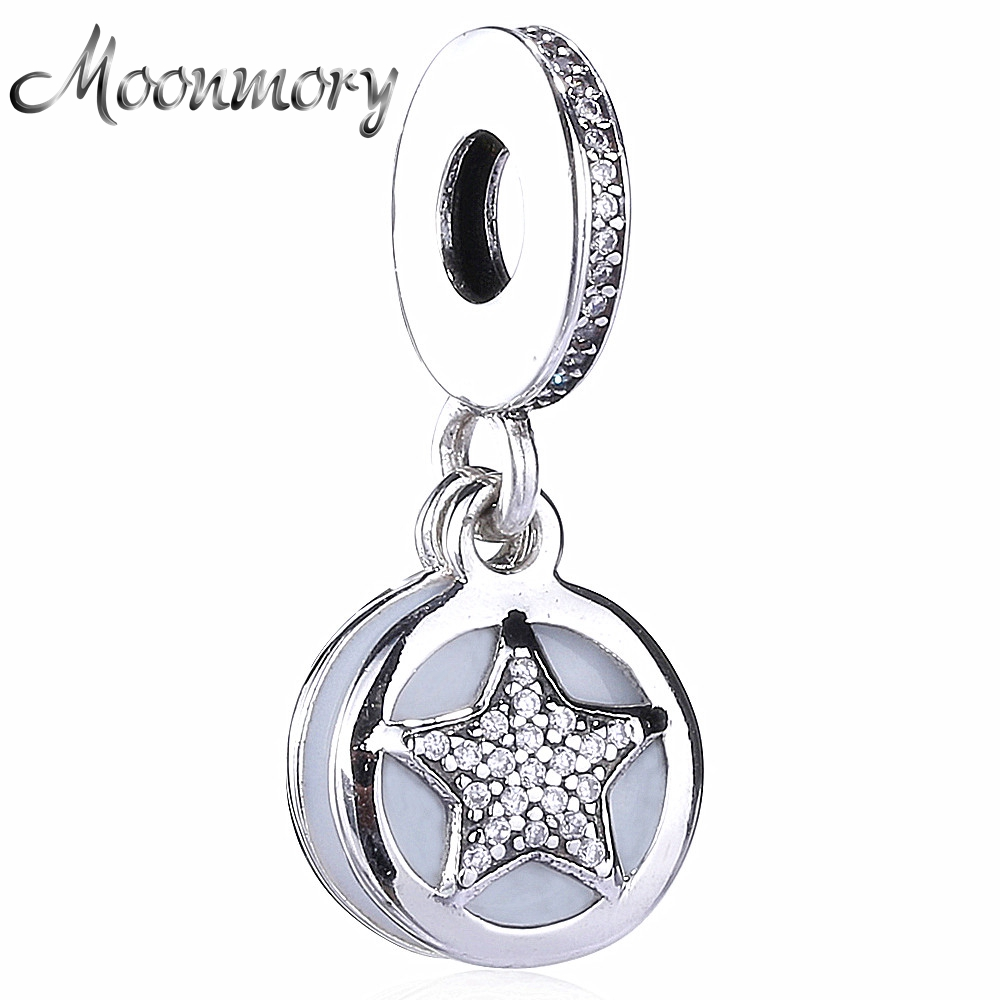Moonmory 2020 podzimní styl se hodí pro Evropu Snake náramek autentický 925 Euro stříbrná hvězda kouzlo přívěsky přívěsek DIY šperky