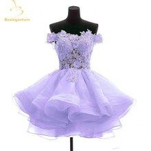Bealegantom Новый прекрасный Сиреневый короткие платья для выпускного