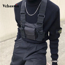 Fashion Nylon Chest Rig Bag Black Vest Hip Hop Streetwear Functional Tactical Harness Chest Rig Kanye West Wist Pack Chest Bag(China)