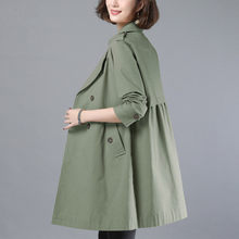 Pure Cotton Trench Coat Women's Long Section 2020 Spring Autumn New Coat Korean