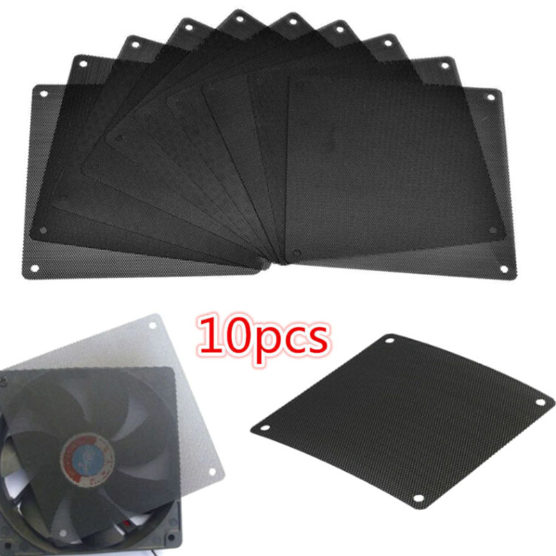 10Pcs 120mm PVC PC Fan Dust Filter Dustproof Case Computer Cooler Cover Mesh