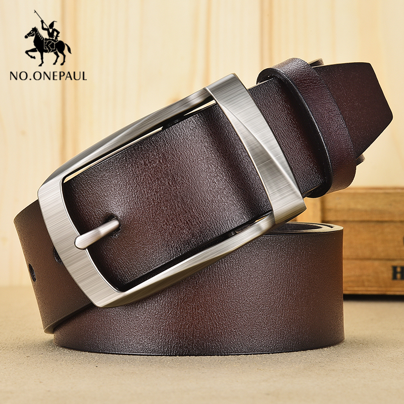 NO.ONEPAUL Women Belt Genuine Leather Luxury Brand Fashion Alloy Pin Buckle The Belts For Women High Quality Vintage Youth Belt