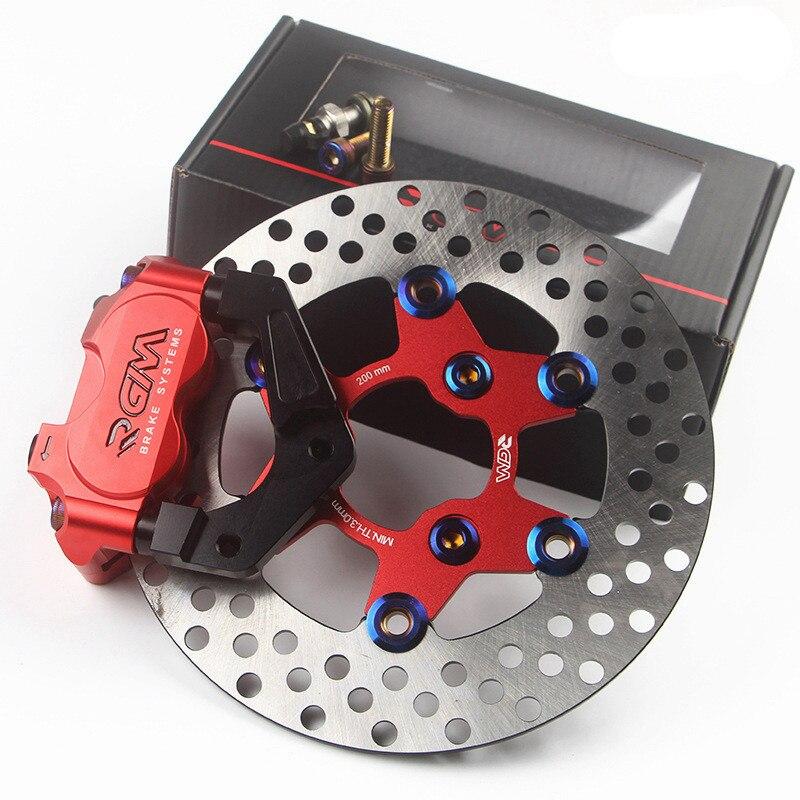 Мотоцикл скутер тормозной суппорт + 200 мм/220 мм дисковый тормозной насос адаптер кронштейн + тормозной диск модификация Переднего амортизато
