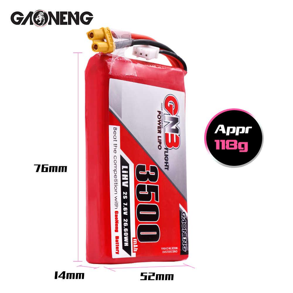 2 uds Gaoneng GNB 7,6 V 3500mAh 2 HV batería Lipo XT30 enchufe para Frysky Taranis QX7 X7 transmisor TX Control remoto
