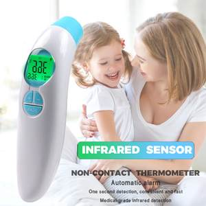 Digital-Thermometer Lcd-Backlight Adult Infrared--1 Forehead Baby Medical-Body Non-Contact