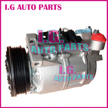 Auto AC Compressor For Volvo Pulley PV5 For Volvo XC70 V70 S80 2001-2008 30780443 31305833 36000331 36000456 36002425 image