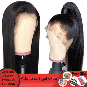 Wig Lace-Front-Wigs Hair-Mslove Human-Hair Black Straight Women Brazilian Baby 360