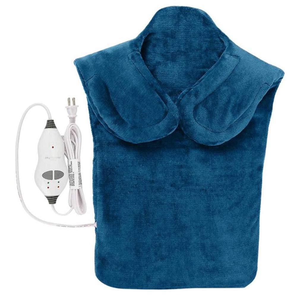 Фланель здоровья рельеф Обёрточная бумага шеи, плеч обратно терапия Мышцы стелька для снятия боли массируя лента термическая бытовой массажер - Цвет: bule