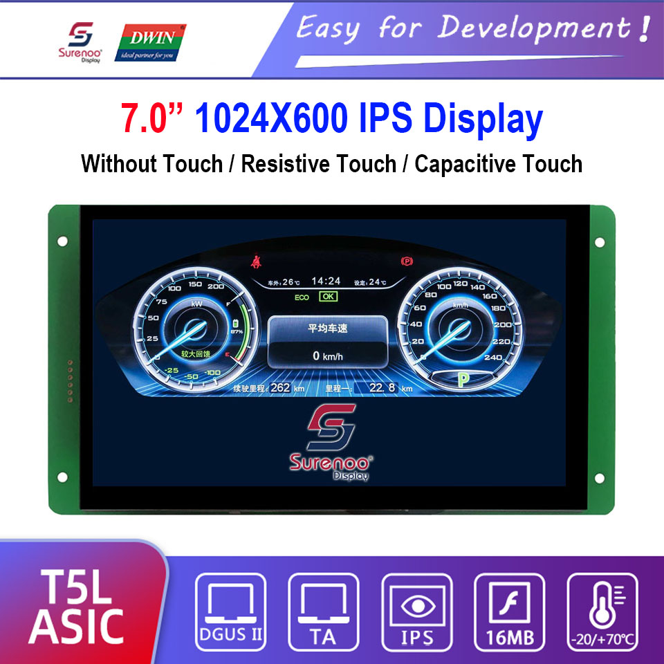 Dwin T5L HMI Intelligent Display, DMG10600C070_03W 7.0