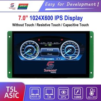 "Dwin T5L HMI Intelligent Display, DMG10600C070_03W 7.0"" IPS 1024X600 LCD Module Screen Resistive/Capacitive Touch Panel"