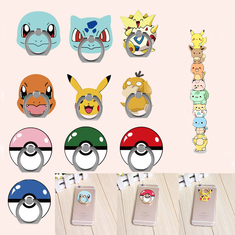 Pokemon Go Cosplay Prop Accessories Pikachu Rotatable Mobile Phone Bracket Ring Buckle