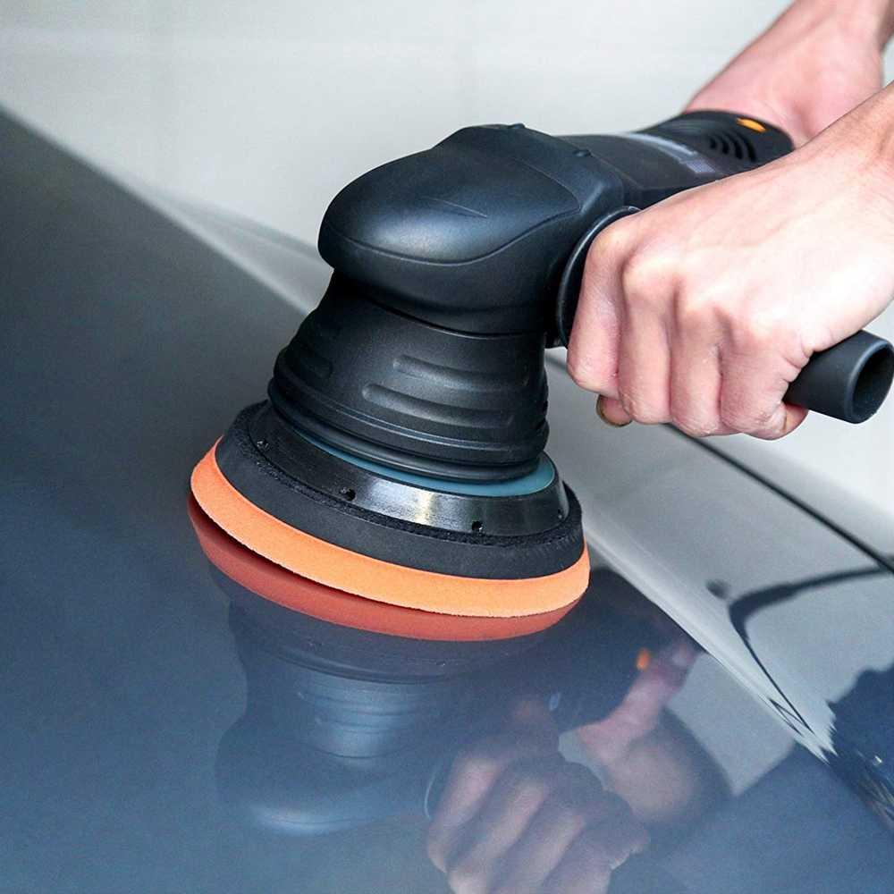 SPTA 5 بوصة 15 مللي متر المزدوج عمل آلة تلميع 220 فولت المنزل ألواح رسومات للسيارات يمكنك تركيبها بنفسك الملمع مع لوحة تلميع فرك مجمع تلميع لصق