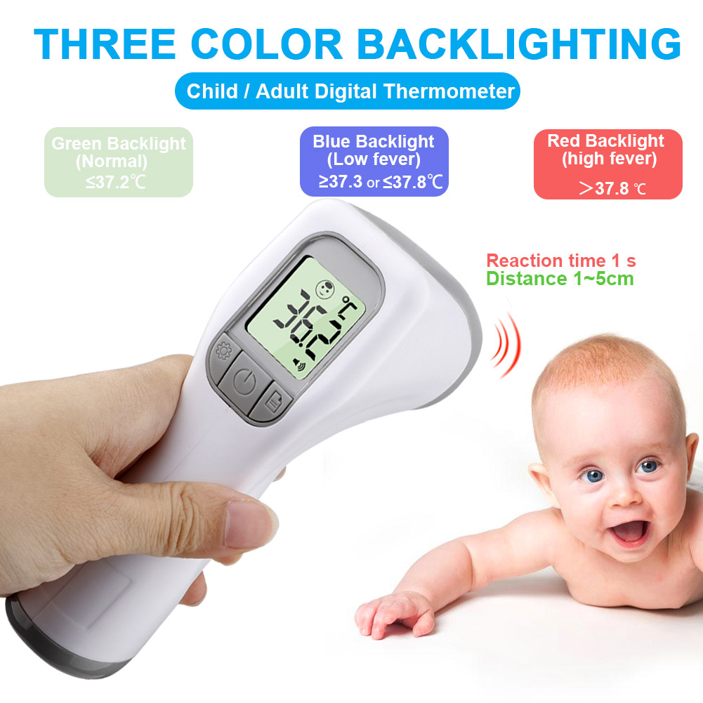 LCD Digital Forehead Body Temperature Fever Measure Infrared For Kid Thermometer