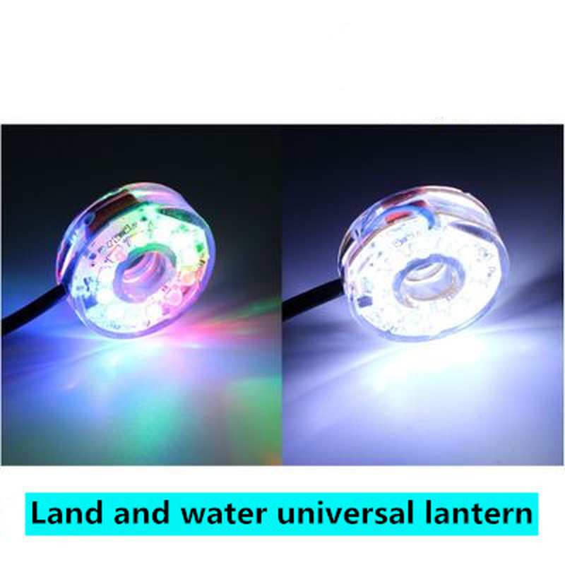 Small/small Rockery Water Desktop Fountain Home Fish Tank Aquarium Bonsai Decoration 12LED Diving Colorful Lights 220V