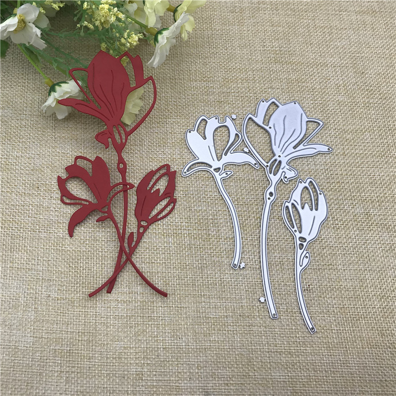 3Pcs Flower Decoration Metal Cutting Dies For DIY Scrapbooking Album Paper Cards Decorative Crafts Embossing Die Cuts