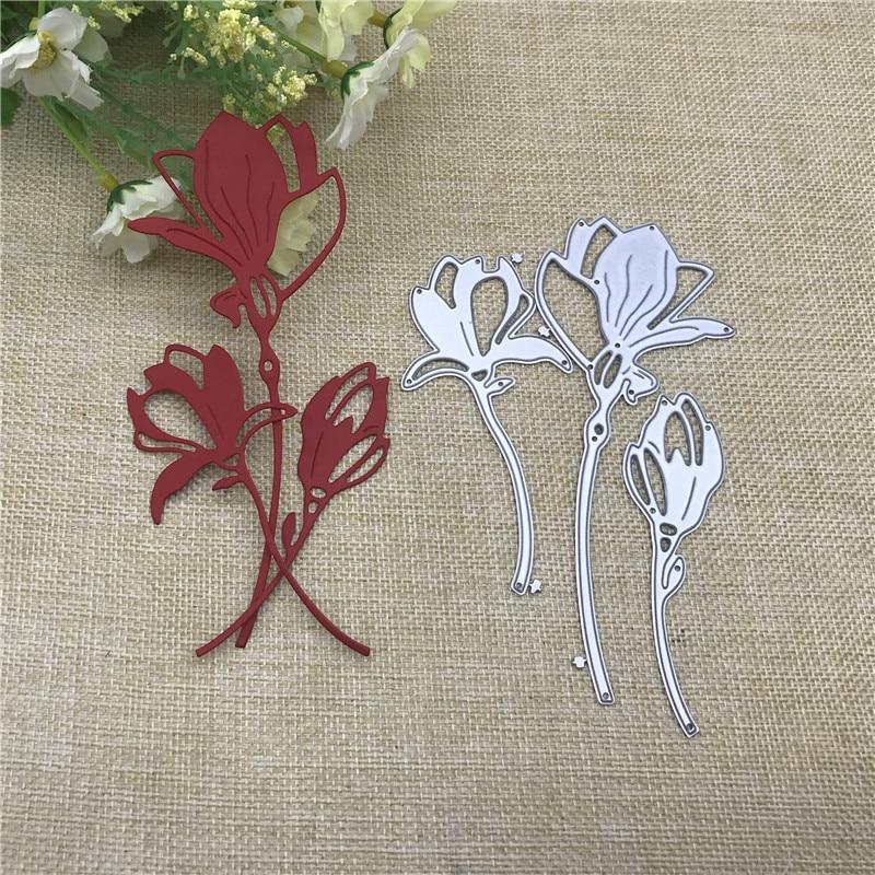 3Pcs Flower Decoration Metal Cutting Dies For DIY Scrapbooking Album Paper Cards Decorative Crafts Embossing Die Cuts