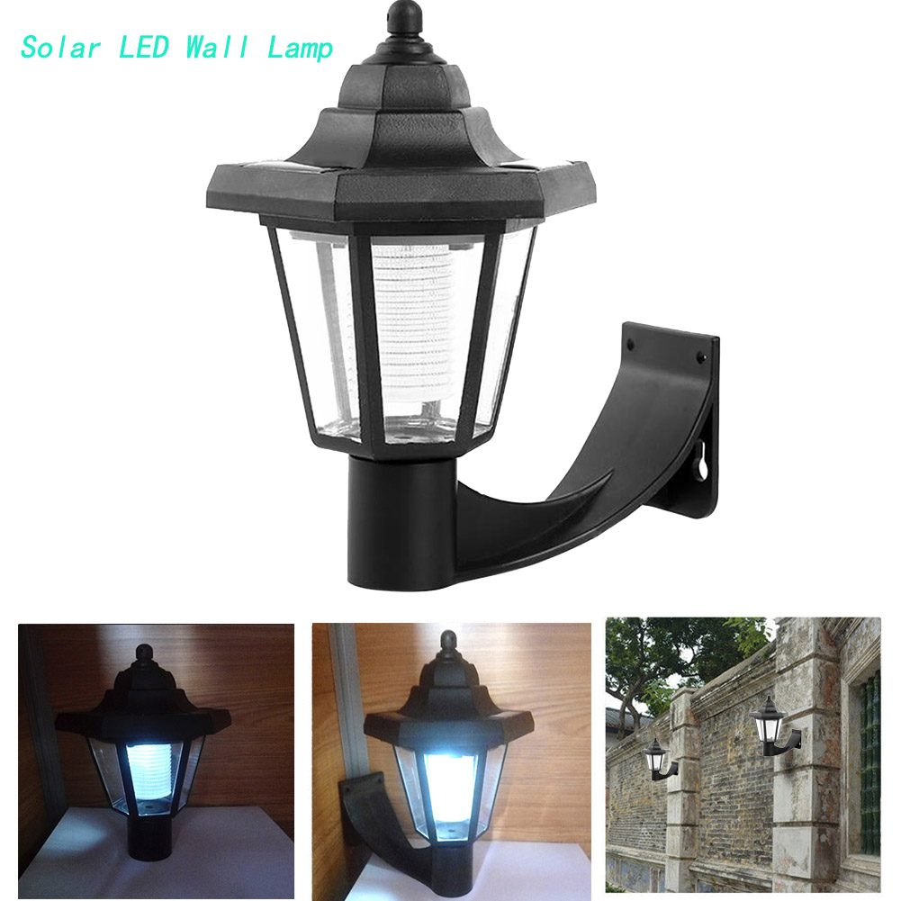 Hot Fashion Solar Hexagonal LED Wall Light White Path Way Wall Landscape Mount Garden Fence Lamp Landscape Hexagonal Light
