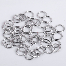 100-200Pcs Stainless Steel Open Jump Rings For Jewelry Making Connectors Split Rings