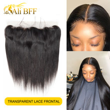 HD Lace Frontal Pre Plucked 13x4 Lace Frontal Closure Peruvian straight Wave 13x4 Transparent Lace Frontal HD Closure(China)