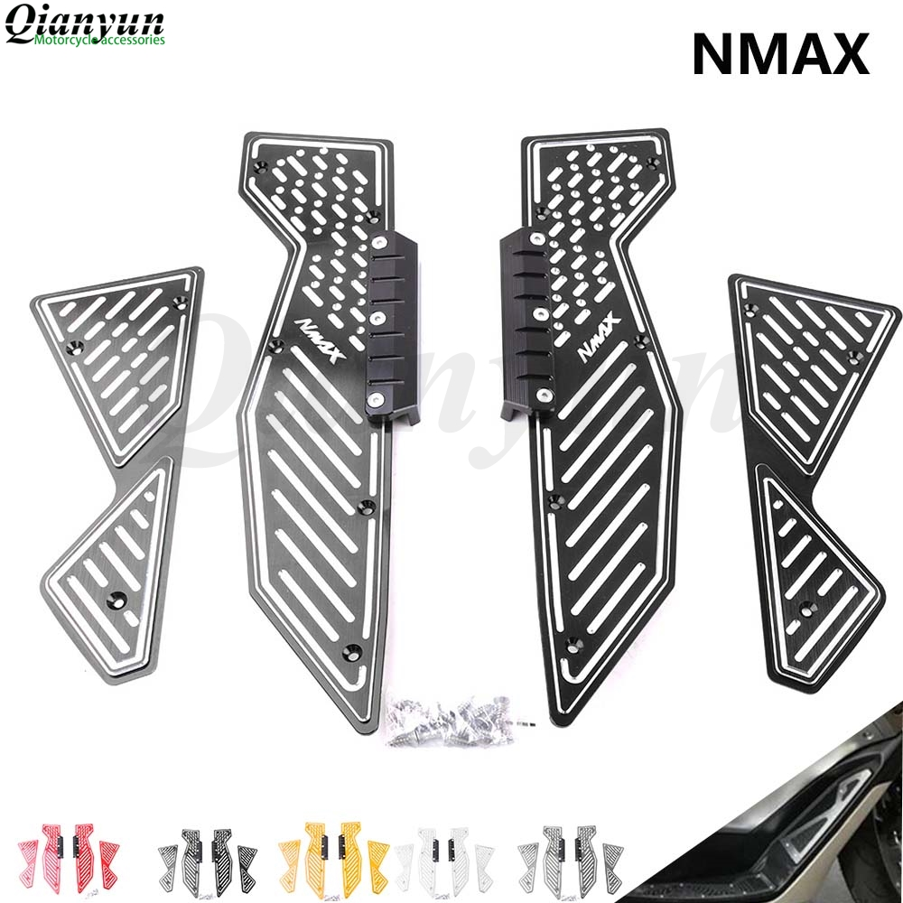 Motorcycle Front & Rear Footrest Pedal Footboard Steps Foot Plate 2015-2017 For YAMAHA NMAX 155 125  N-MAX 155 125