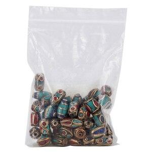 Image 5 - 50 stücke Retro Gebet Nepal Perlen Handgemachte Rote Koralle Tibetischen Lose Perlen Charms Für DIY Schmuck Machen Halsketten Armbänder