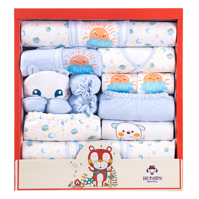 Clothes For Babies Winter Cotton-padded Clothes Thick Pure Cotton Newborns Gift Set Fall And Winter Clothes Birth Newborn Baby S