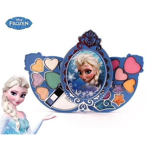 disney meninas congelados 2 elsa princesa coroa cosmeticos caixa de maquiagem criancas fingir jogar para
