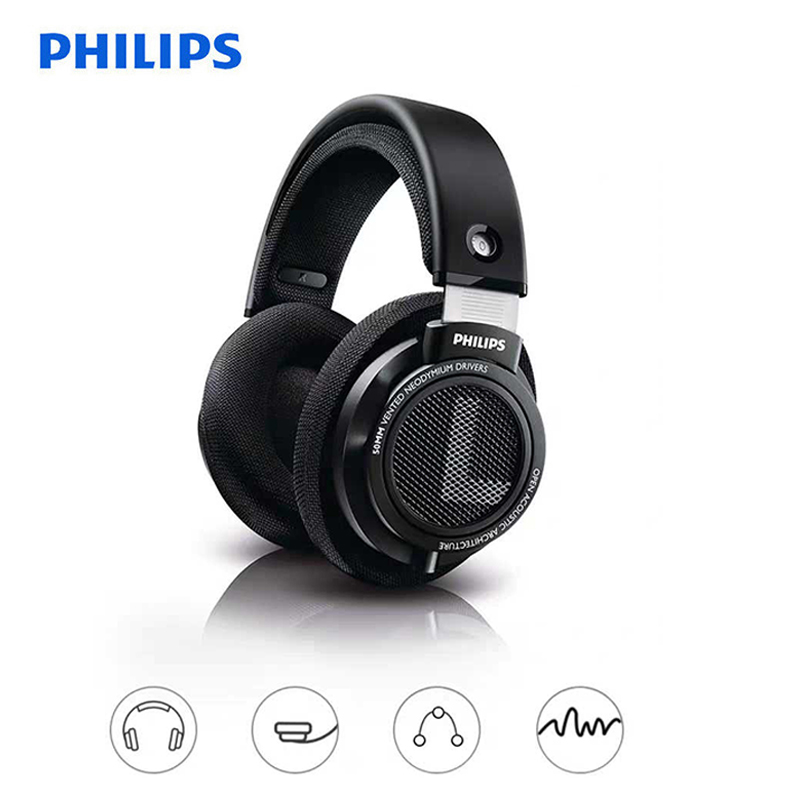 Philips SHP9500 Professional Earphone with 3m Long Wire Noise reduction Official Test Headphones for xiaomi SamSung S8 MP3