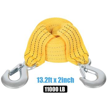 4M Car Tow Rope Tow Cable Strap Pull Rope Strap Hooks Van Road Recovery Rescue Tool for VW Toyota BMW Suzuki Honda Hyundai Kia 2